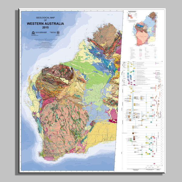 Geological map of Western Australia, 1:2 500 000, 13th edition, 1998