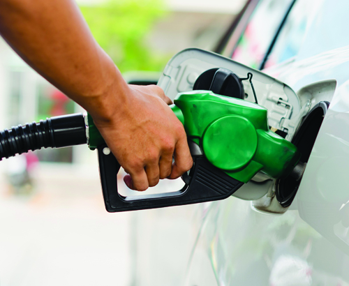 Use of petroleum products - fueling car