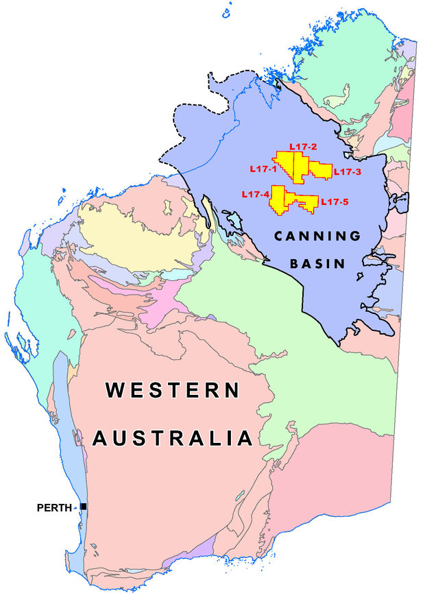 Canning Basin Geological Map